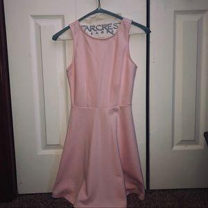 V Skater Baby Pink Dress - Forever21